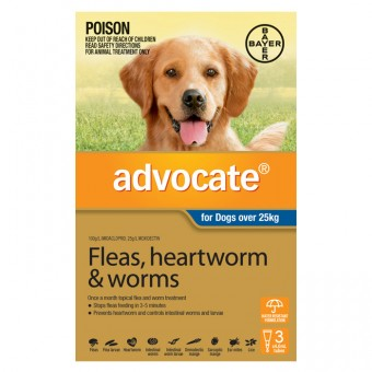 ADVOCATE DOG LARGE BLUE +25KG 3 PACK
